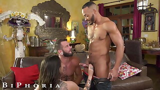 BiPhoria, Lucky Delivery Stud Seduced By Horny Married Couple