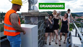 Builder Working on the Biggest Granny Project