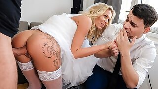 DEBT4k. Groom is watching how his bride has sex with another