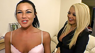 Lolly Badcock and Jem Stone behind the scenes