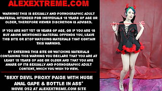 Sexy demon Proxy Paige with huge anal invasion gape & bottle in ass