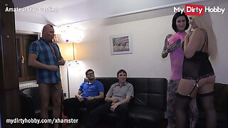 MyDirtyHobby - Hotel room orgy with 4 friends and 2 Mummies
