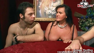 German amateur swinger party with real duo