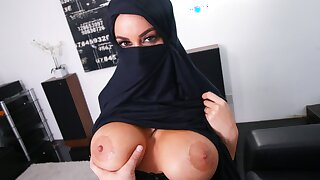 Busty Muslim Mummy Cheats On Husband With White Guy, Point of view