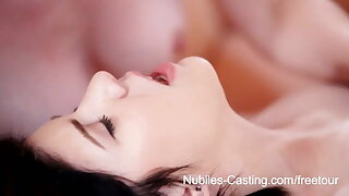 Nubiles Casting - Teenage cutie in hot 3some casting call