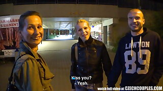 Beautiful Czech Pair Gets Money for Girlfriend Exchange