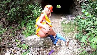 Claudia Macc in Outdoor High Vis Piss