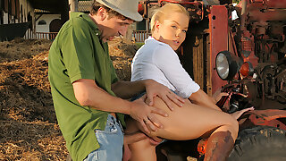 Blondes Enjoy Dick - Valentina Blue Gets Ass Humped on the Ranch