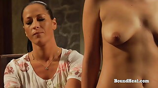 Lesbian Slave In Prison Nuzzles Madame's Panties And Orgasms