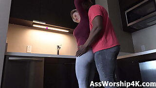 Yoga pants ass worship with Dee Williams