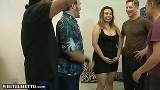 Hot Plumper Girl Gets DP Gangbanged With Her Bisexual BFF