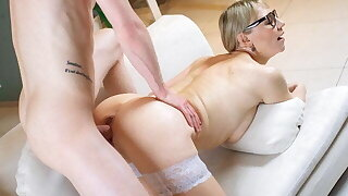 TUTOR4K. Curious student discovers tutor's fuck-a-thon toys and seduces her