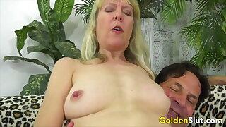 Golden Slut - Dick Ridden by an Older Hottie Compilation