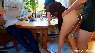 He Ignored His Wife Hotwife In Front of Him with His Best Friend