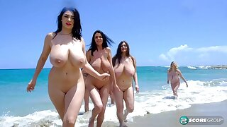 huge natural boobs outdoors - babes on the beach n by the pool