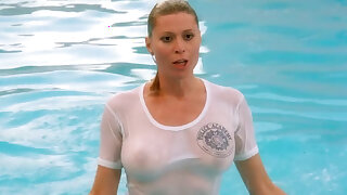 Bare Celebrities in Wet T- Shirts