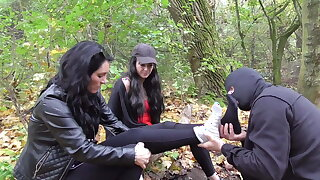 2 strict german proll doms order feet smelling outdoor