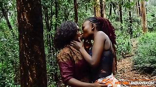African Amateur Lesbians Outdoor In the Woods