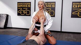 Rough Pulverizes My MILF Karate Teacher - full scene at ebrazz.tv