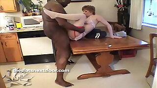 Redhead Milf drills her Black Neighbor