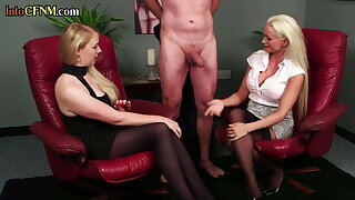 CFNM honey cocksucking sub in front busty shrink