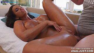 Anal vignette - Chloe Lamour oiled up and nailed hard