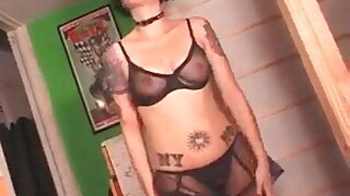 My Sexy amateur with pierced nips and tattoos