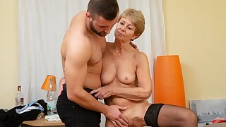MATURE4K. Woman is old but still wants to fuck, so boss fucks her