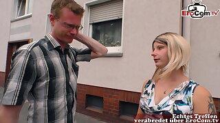 Regular young German blonde next door – housewife sex