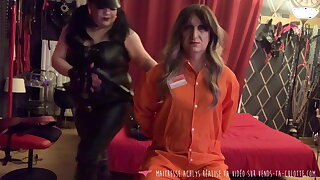 Vends-ta-culotte - French Dominatrix Compels Sissy Slave to Give Blowjob