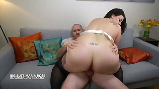 Spanish huge-titted BBW rides her boss