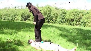 slave maskjoe get putdoor trampled by goddess gloria