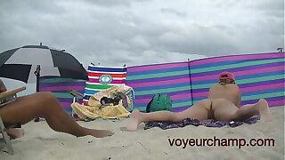 A taste of my friend Nude Beach Cougar Mrs Brooks Voyeur Point of view 8