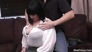 Lush brunette gets her pussy plowed by a stranger