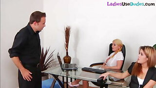 Dominating babes pegging subject to get the job