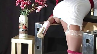 Tied Up Asian Maxine X Creams In Mouth Spreading Ratchet Gag