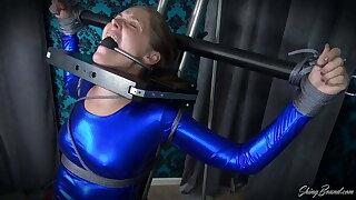 Rachel Adams Superhero Latex Bondage