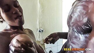 African BBC Bathroom Sex