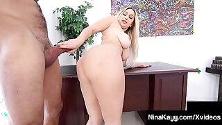 Big Booty Boss Nina Kayy Silenced By Big Cock Latino Intern!