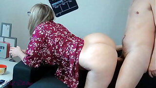 big spanking on that big ass during breakfast!