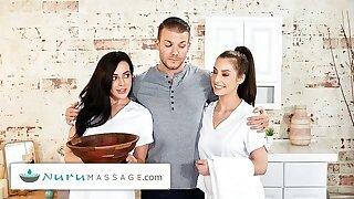 NuruMassage – 2 Masseuses For 1 Customer With Whitney Wright