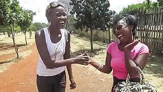 Authentic Ebony Lesbian Duo Sex Gauze