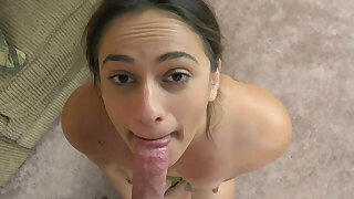 ChickPass - Mallory's on her knees for a Point of view blowjob