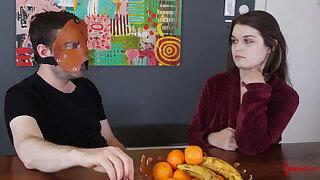 Fetish honey chatting behind the scenes