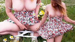 Blonde is Horny in Nature and Fingering in the Field