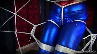 Spidergirl Cosplay Bondage