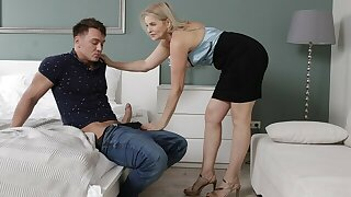 MATURE4K. Wanker is caught by tutor who only wants his dick