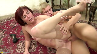 Mature mother suck and pound her youthful pupil man