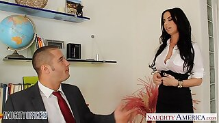 Chesty office babe Brandy Aniston fucking