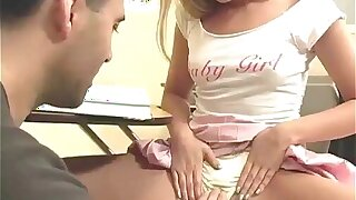 Hot teacher makes his 18yo schoolgirls panties wet